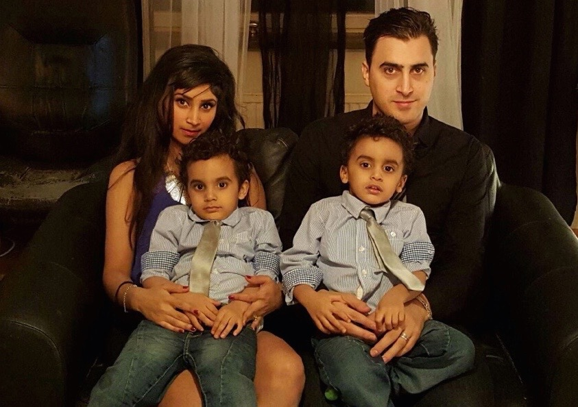 Cristian Bernava med familj