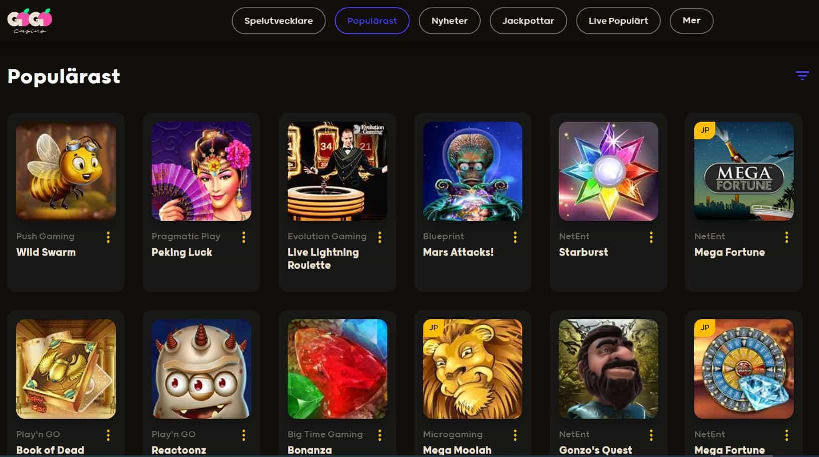 Gogo Casino screenshot