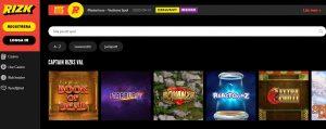 Rizk Casino screenshot