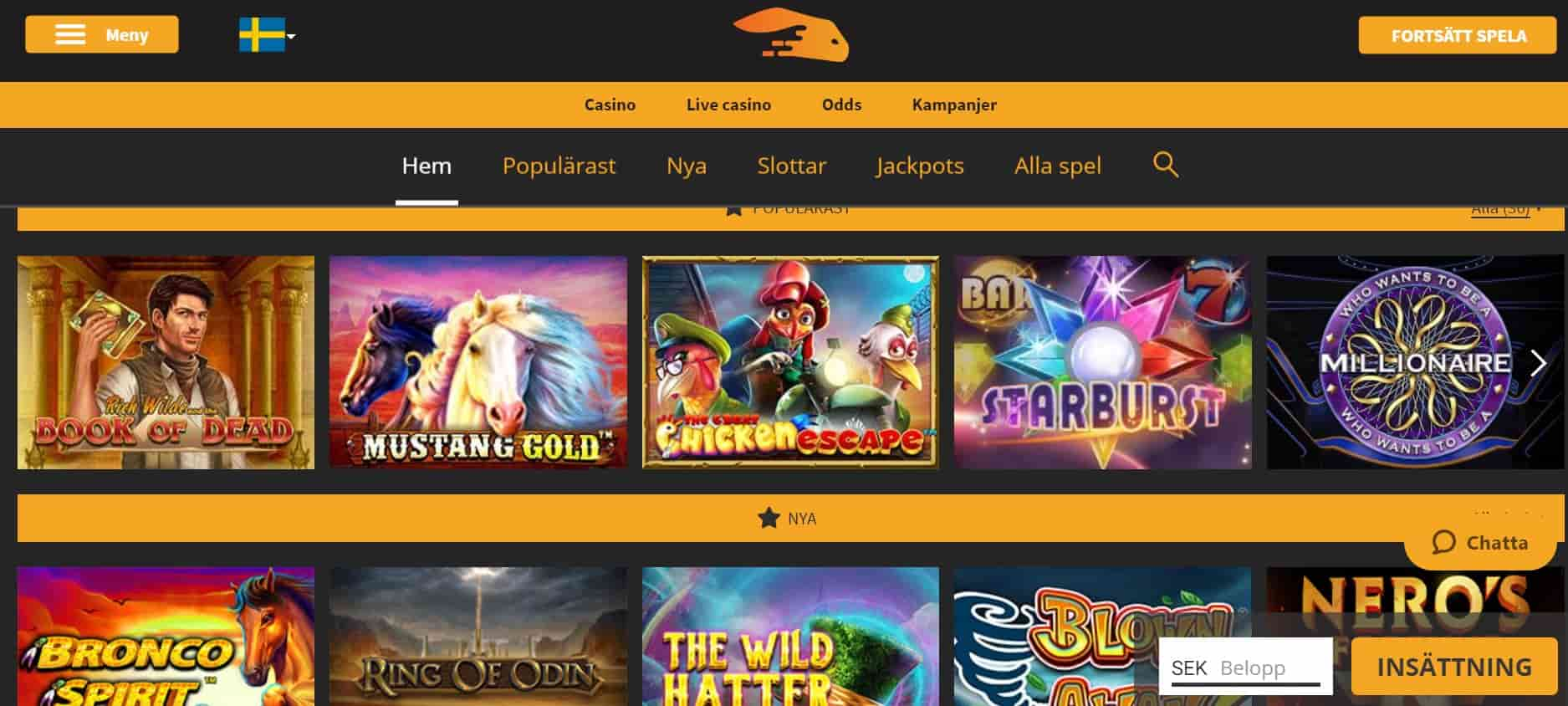 Snabbis Casino screenshot